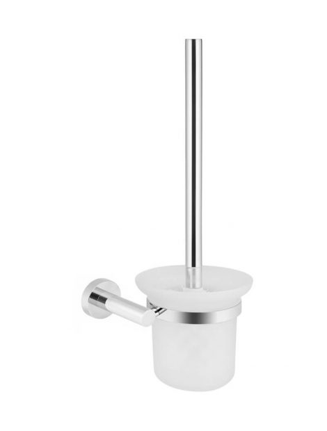Meir Round Toilet Brush & Holder - Polished Chrome