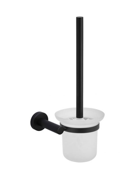 Meir Round Toilet Brush & Holder - Matte Black