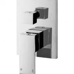 Meir Square Wall Diverter Mixer - Polished Chrome