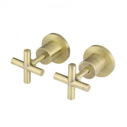Meir Cross Handle Jumper Valve Wall Top Assemblies - Tiger Bronze