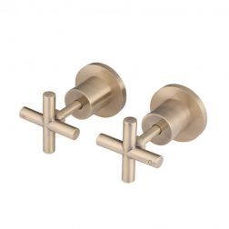 Meir Cross Handle Jumper Valve Wall Top Assemblies - Champagne
