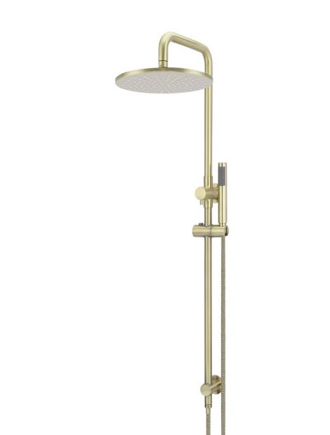 Meir Round Combination Shower Rail 300mm Rose, Single Function Hand Shower - Tiger Bronze