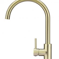 Meir Round Gooseneck Kitchen Mixer Tap - Tiger Bronze
