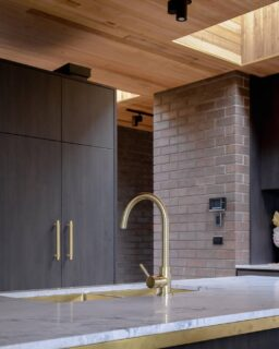 Friday inspo coming at you from this architectural home designed by @benwalkerarchitects + @theidealgroup. Spy our @meiraustralia tiger bronze kitchen tap and matching brushed bronze gold sink sitting pretty in here👀  If you're keen to see more of this stunning home, check out our IGTV where we take you on the full tour!  📷@theguthrieproject  #kitchen #kitcheninspiration #kitcheninspo #kitchentap #joinery #kitchenjoinery #kitchenstyling #australianhomes #architecturalhomes #architecturelovers #archlover #architecturalinspo #timberceiling #tracklighting