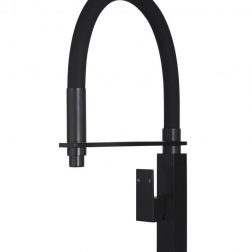 Meir Square Flexible Kitchen Mixer Tap - Matte Black