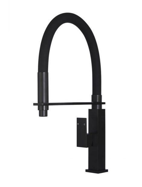 Meir Square Flexible Kitchen Mixer Tap - Matte Black