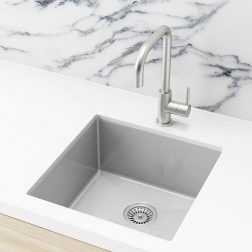 Meir Kitchen Sink - Single Bowl 450 x 450 - Brushed Nickel