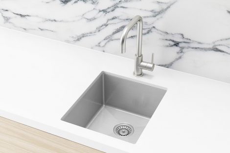 Meir Kitchen Sink - Single Bowl 380 x 440 - Brushed Nickel
