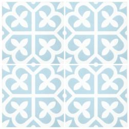 Barcelona Bloom Baby Blue Matt multiple tiles
