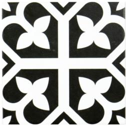 Barcelona Bloom Black Matt tile