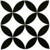 Barcelona Classic Black and White Matt tile