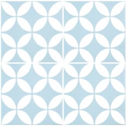 Barcelona Danish Baby Blue Matt multiple tiles