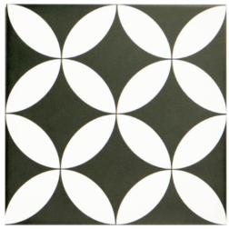 Barcelona Danish Black and White Matt tile
