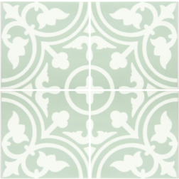 Barcelona Shadow Pale Green Matt multiple tiles