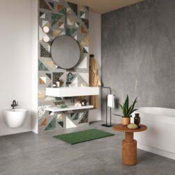 Blend Concrete Grey Matt Tiles