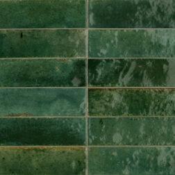 lago green gloss tile